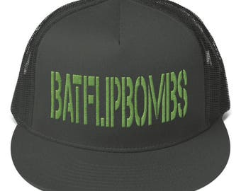 BatFlipBombs Mesh Back Snapback