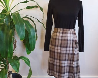 Plaid Wool Kilt