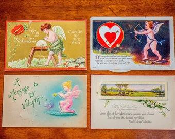 Antique Valentine Postcards: Variety SET