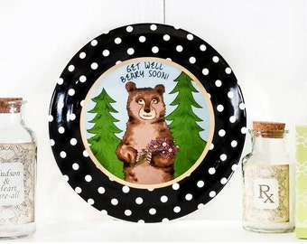 Get Well Beary Soon Ceramic Gift Plate