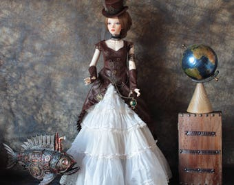 BJD steampunk costume full set Unique bjd Outfit Clothes Doll Clothing YID Zenith