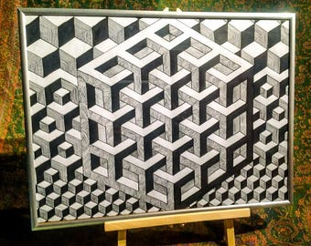One off Piece - Sacred Geometry - Cuboidetry (Cubislave)
