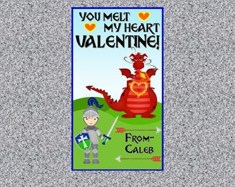 Knights and Dragons Valentine's Day Card