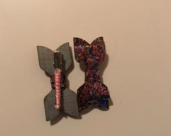 Sparkle Bow Hair Clips