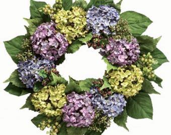Full Hydrangea Wreath