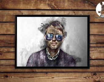Thom Yorke Poster wall art home decor print
