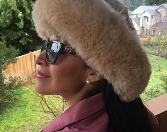 100% Baby Alpaca fur hat