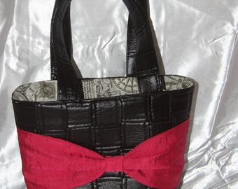 Chocolate handbag and Fuchsia