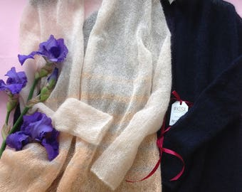 Weightless kidmohair cardigan, spring cardigan,