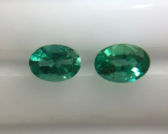 1.48Cts Natural Zambian Emerald AAA Grade 7X5MM Oval Cut Faceted Wholesale Lot Loose Gemstone