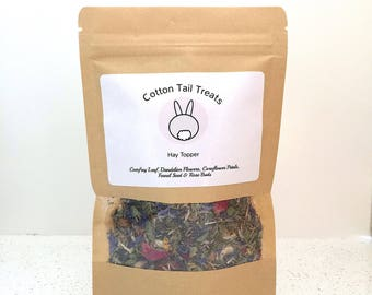 Rabbit/Guinea Pig Hay Topper - Cotton Tail Treats