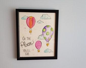 Original Watercolour Nursery Art