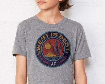 The West is Best : Kid's Unisex Soft Blend T-Shirt