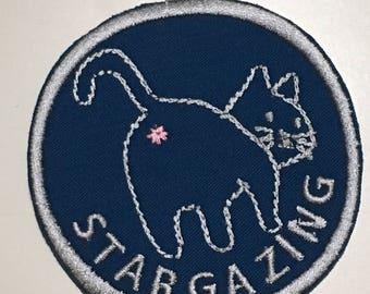 Stargazing iron on patch