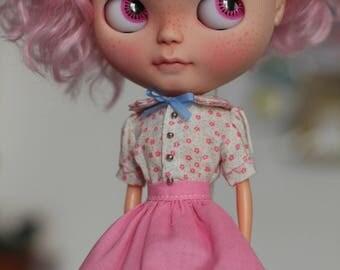 SALE OOAK Blythe dress set