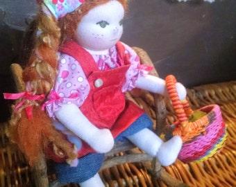 8 inch Little Gardener Waldorf Doll