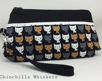 Cute Kitty Wristlet
