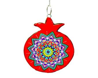 Bat Mitzvah gift, pomegranate, Jewish art, Jewish symbol, Judaica art, pomegranate decor, Pomegranate wall decoration, Pomegranate art