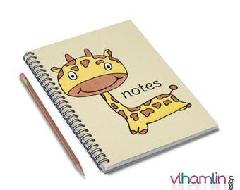 Giraffe Notebook - Giraffe Spiral Notebook - Giraffe Notes - Giraffe Gifts - Spiral Notebook