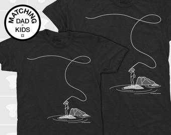 Fly Fishing - Matching Shirts (Men & Kid)