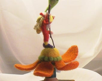 Ready For A Picnic, Needle Felted Art Sculpture