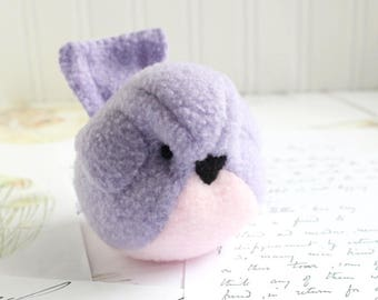Kids Pink and Purple Handmade Bird Stuffed Animal Children Fleece Bird