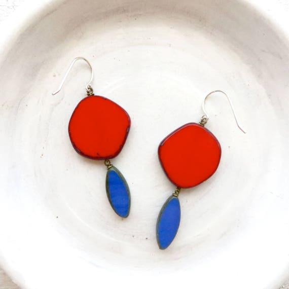 WHOLESALE LISTING // Hue Earrings - Red // EHR