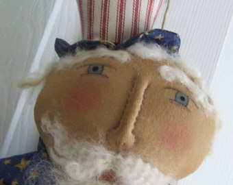 Uncle Sam Doll - Folk Art Uncle Sam Door Doll