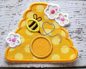 Beehive Iron On Or Sew On Fabric Applique