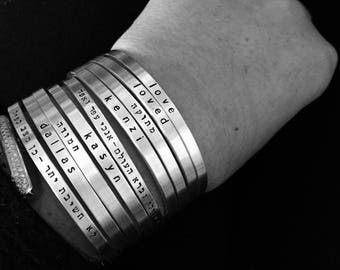 What story is on your wrist? Create your own stack & make is personal - Say What You Want To Say- SimaG