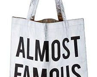 Almost Famous Silver Tote Bag