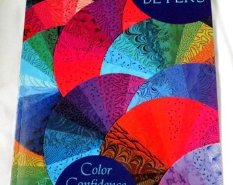 Quilt Book  - Color Confidence For Quilters - Illustrated - Quilting Book - Craft Book - Pattern Book - Craft Supplies