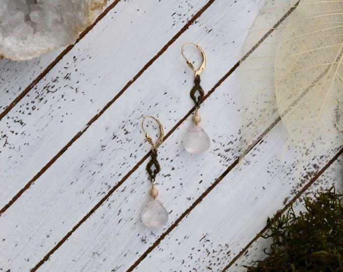 Antique Clear Quartz Earrings