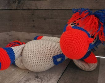 Bronco Horse of Course Snuggle, Crochet Toys, Stuffed Toy, Broncos, Football, Amigurumi