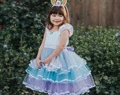 UNICORN dress girls, UNICORN costume, Unicorn party dress, tulle dress girls, unicorn party, girls tulle dress, tulle flower girl dress