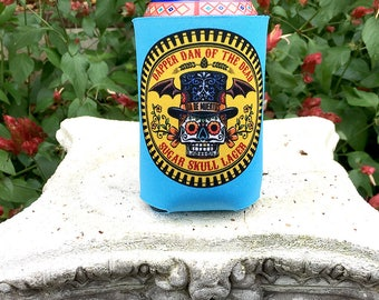 Dapper Dan of the Dead Can Cooler-  Foam Can Cooler for Cans and Bottles