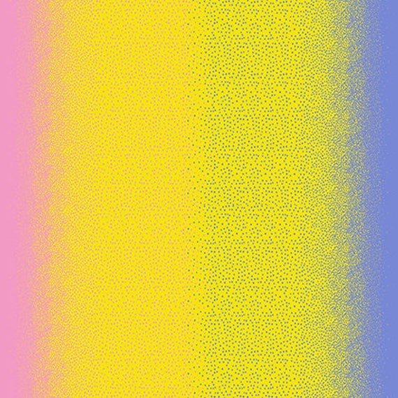 Cool Breeze Over the Top Dots Ombre Collection Yellow Fabric