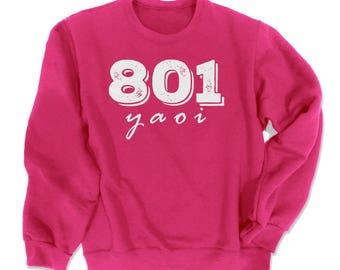 YAOI Sweatshirt 801 - Yaoi fangirl shirt fanboy BL manga fandom clothing © Gesshoku Designs