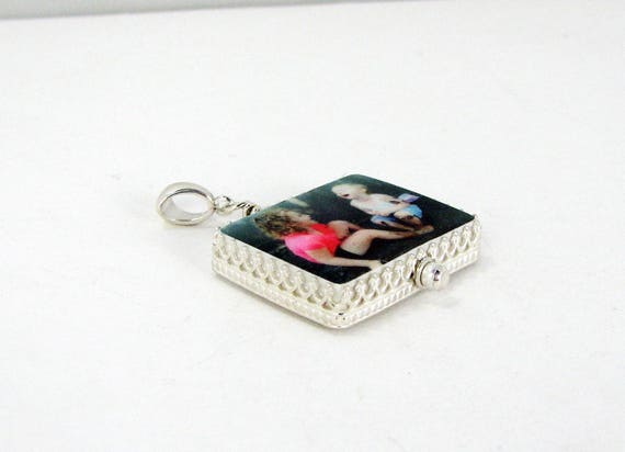 Photo Pendant Framed in a Classic Sterling Silver Bezel - Medium