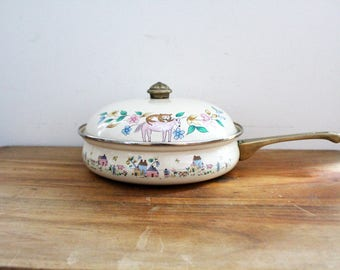 vintage 1980s Heartland International 10 Inch Skillet With Lid 7774