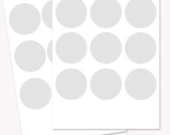 2.5 inch circle rounds template, collage sheet printable, craft template, blank circle sheet, commercial use PNG, SVG and PSD files (LT06)