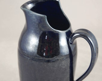 Large Pitcher with Cut Away Rim in Midnight Blue