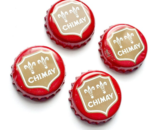 Beer Bottle Top Magnets, Chimay Brewery Red Beer Magnets, Chimay Refrigerator Magnets, Belgium Brewery Bottle Cap Magnets, Trappist Beer