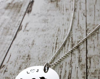 Mother's Day Jewelry - Personalized Family Bird Necklace - Hand Pierced Silhouette Design by EWDjewelry - Jewelry Gifts for Her