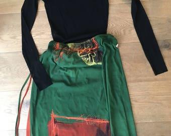 Vintage Gaultier mesh set skirt top