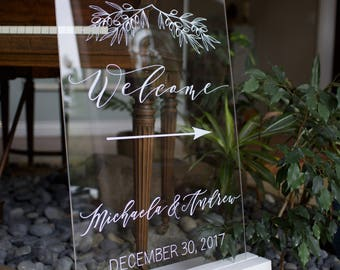 "Custom wood stands for larger acrylic wedding or event signs 16 x 20"" up to 24 x 36"". Tabletop easels painted the color of your choice."