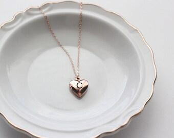 Children's Engraved Heart Locket - Personalized Locket Necklace Engraved Mini Locket Christmas Gift, Personalized Gift Locket Necklace Child