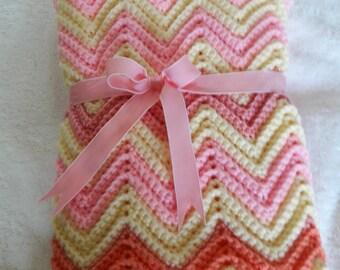 Baby Blanket/Baby Gift/Crochet Baby Blanket/Chevron Baby Blanket/Baby Shower Gift/Baby Afghan/Handmade Baby Blanket/Newborn Gift
