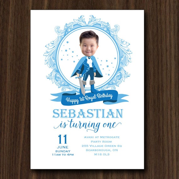 DIGITAL FILE Little Prince Invitation Prince Royal Invitation