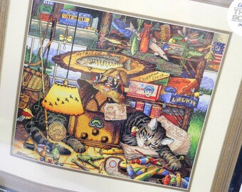 """Dimensions Gold Collection, Max in the Adirondacks, Counted Cross Stitch Kit, Unopened Original Package, Charles Wysocki, 14"""" x 12"""""""